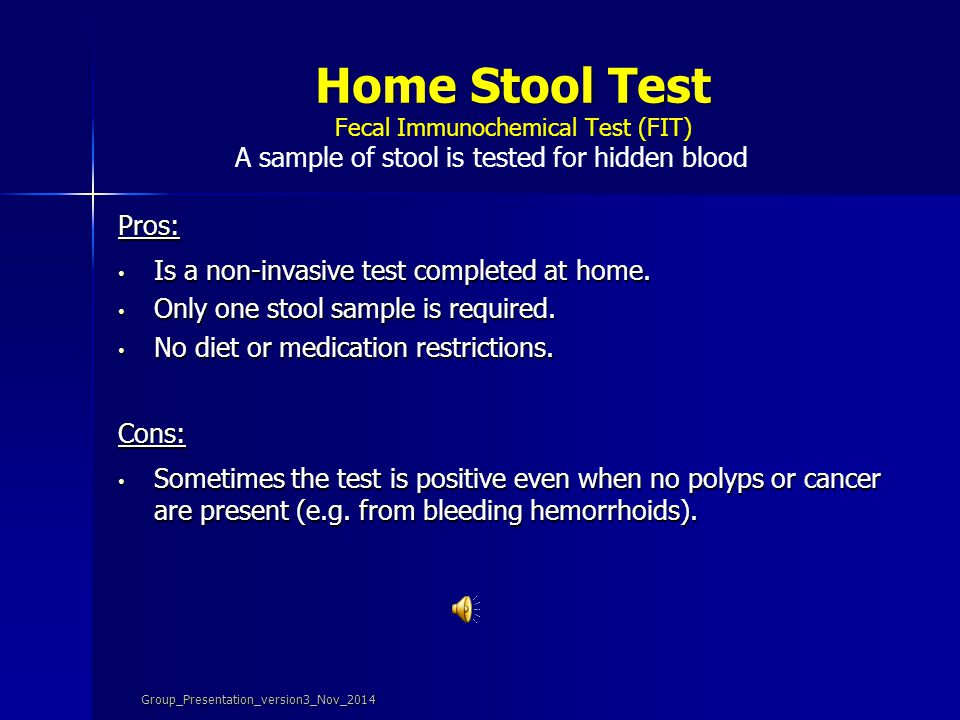 Home Stool Test Fecal Immunochemical Test (FIT)