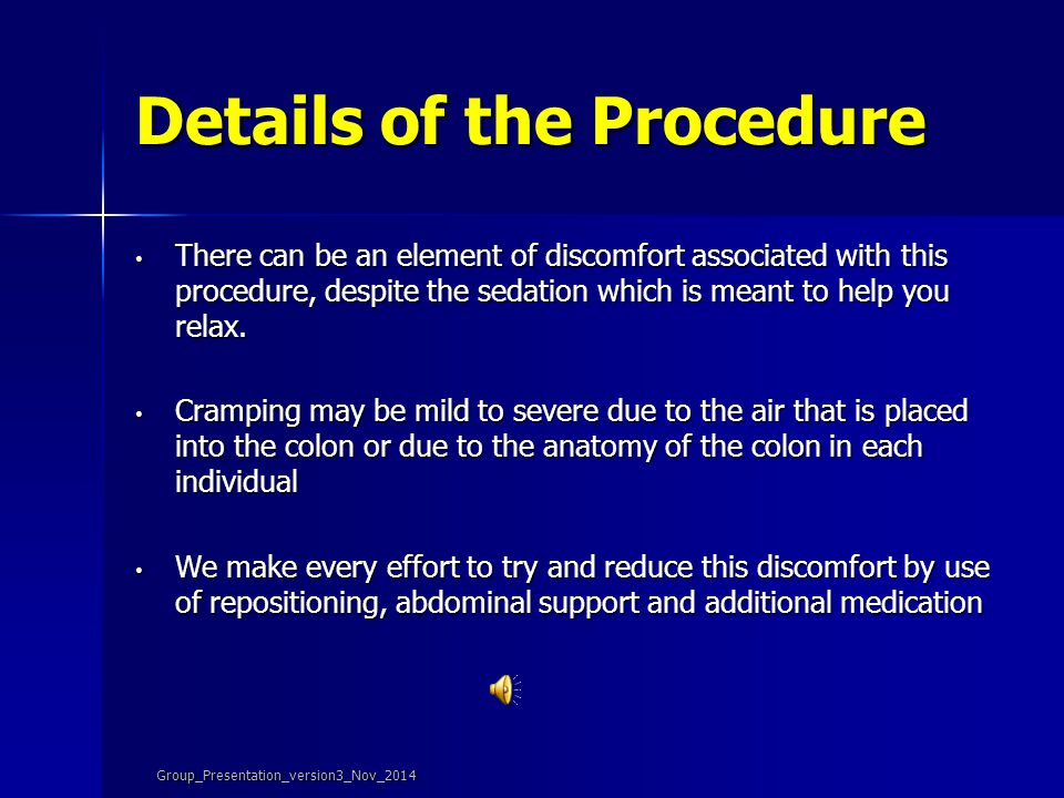 Details of the Procedure