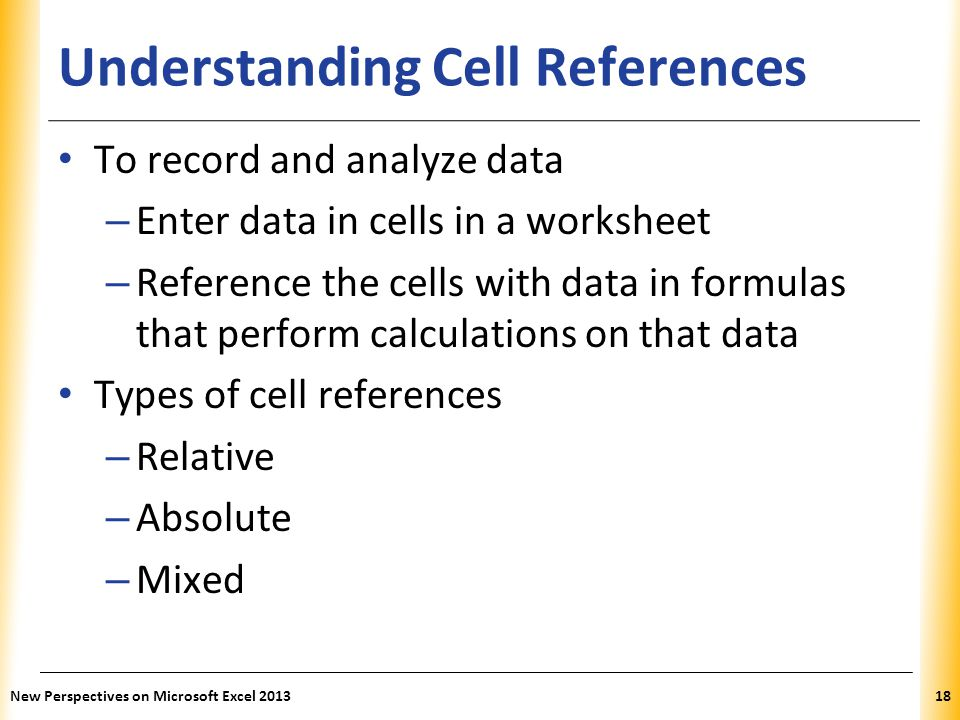Understanding Cell References