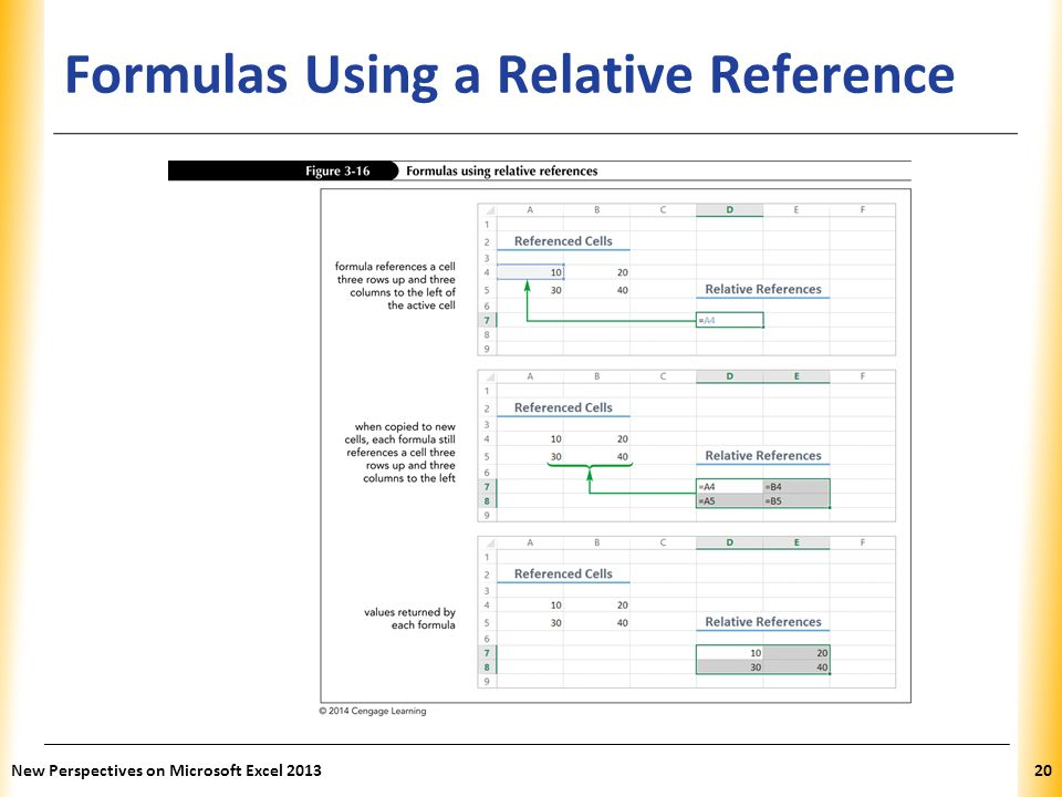 Formulas Using a Relative Reference