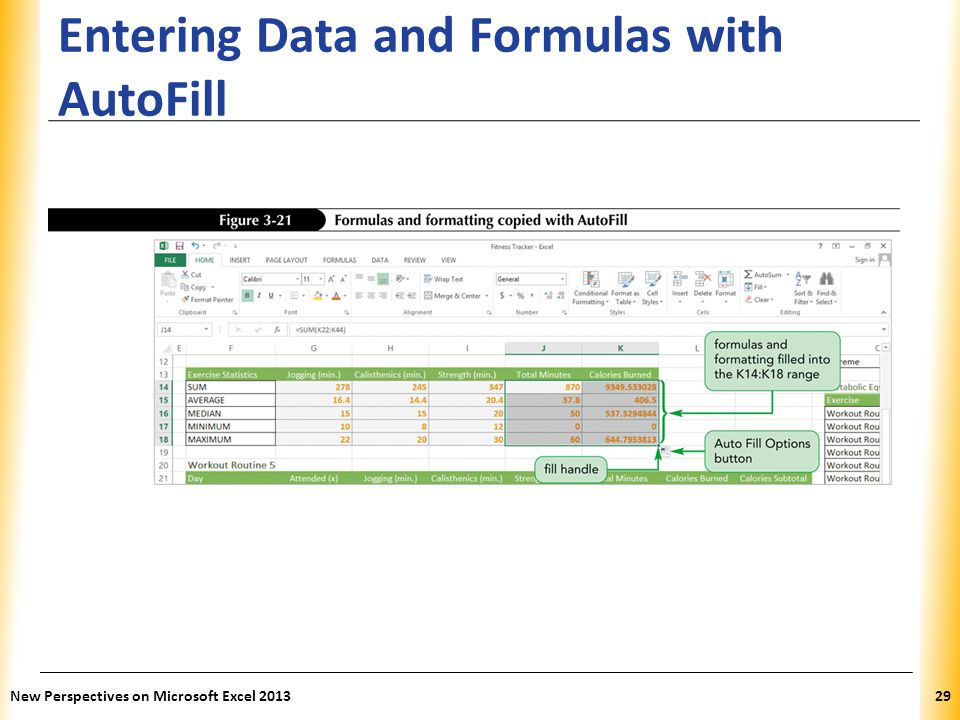 Entering Data and Formulas with AutoFill