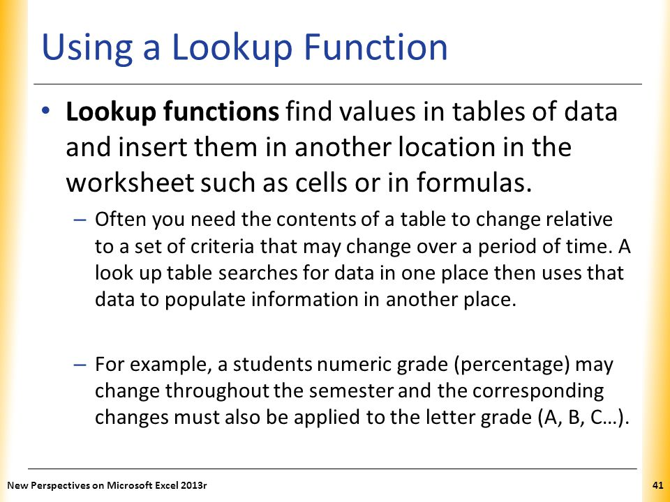 Using a Lookup Function