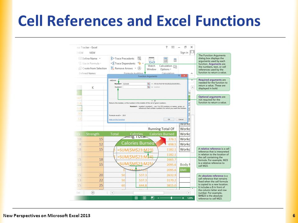 Cell References and Excel Functions