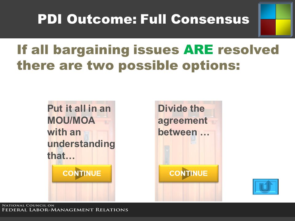 If all bargaining issues ARE resolved there are two possible options: