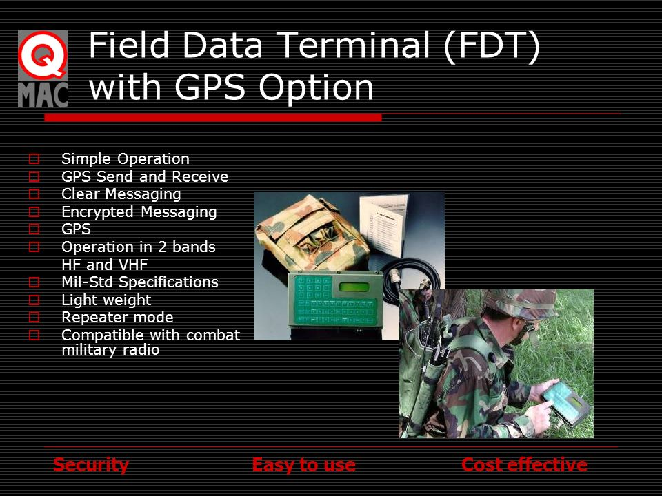 Field Data Terminal (FDT) with GPS Option