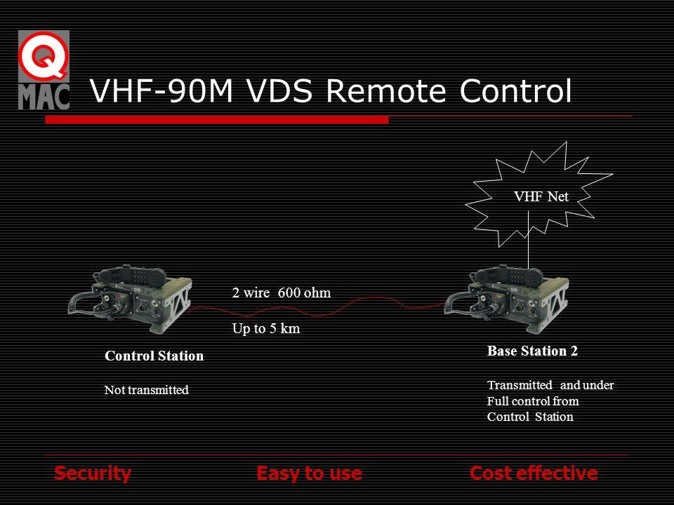 VHF-90M VDS Remote Control