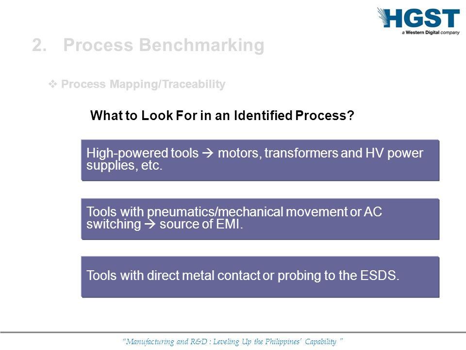 Process Benchmarking What to Look For in an Identified Process