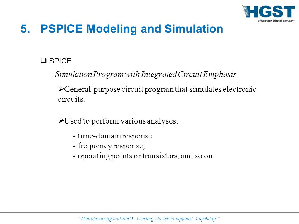 PSPICE Modeling and Simulation