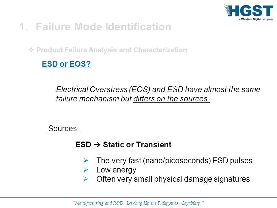 Failure Mode Identification