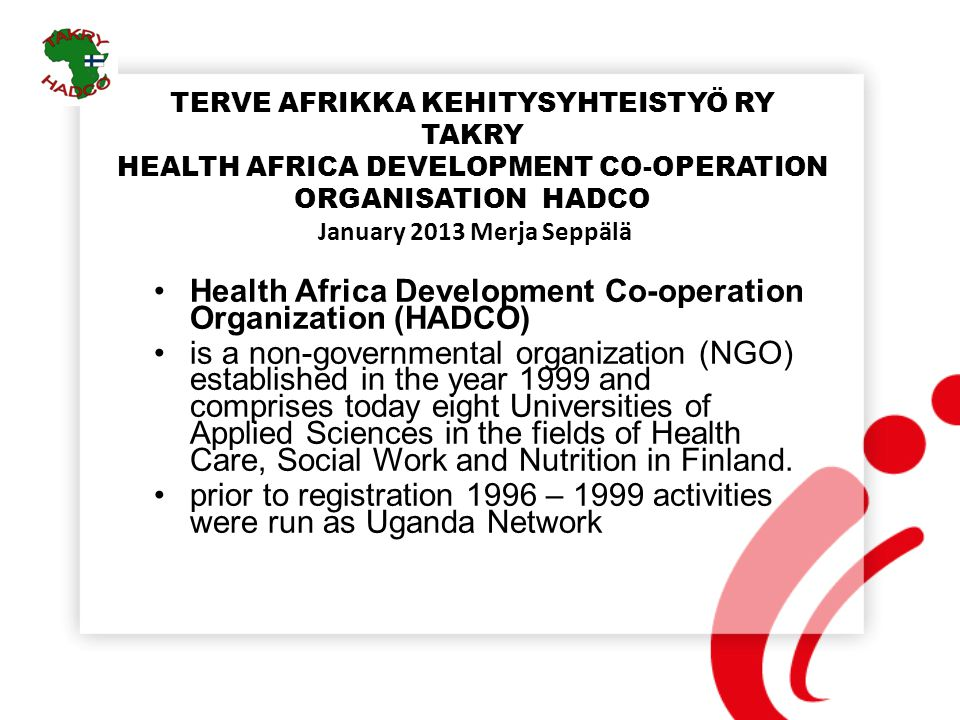Health Africa Development Co-operation Organization (HADCO)