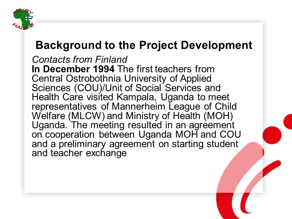 Background to the Project Development