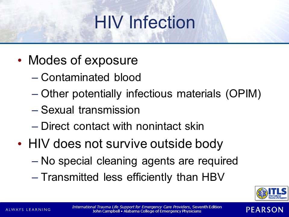 HIV Infection Health care risk of infection
