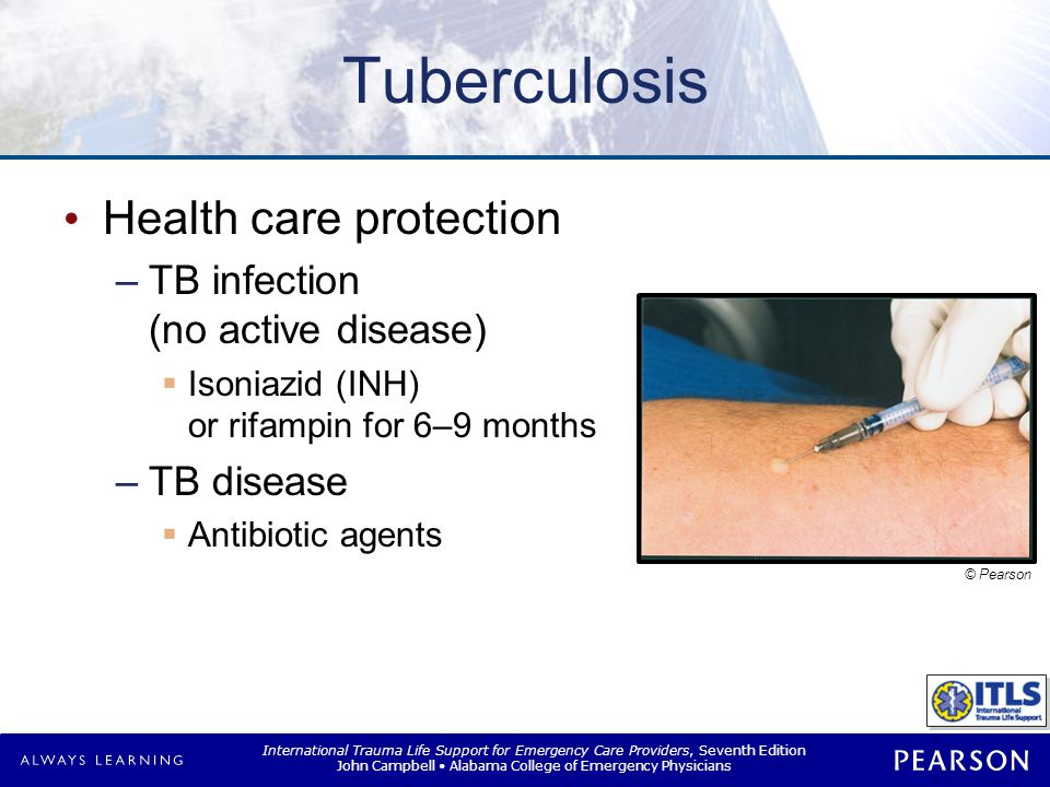 XDR-TB Extensively drug-resistant TB Resistant to: