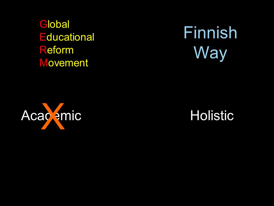 Global Educational Reform Movement Finnish Way X Academic Holistic