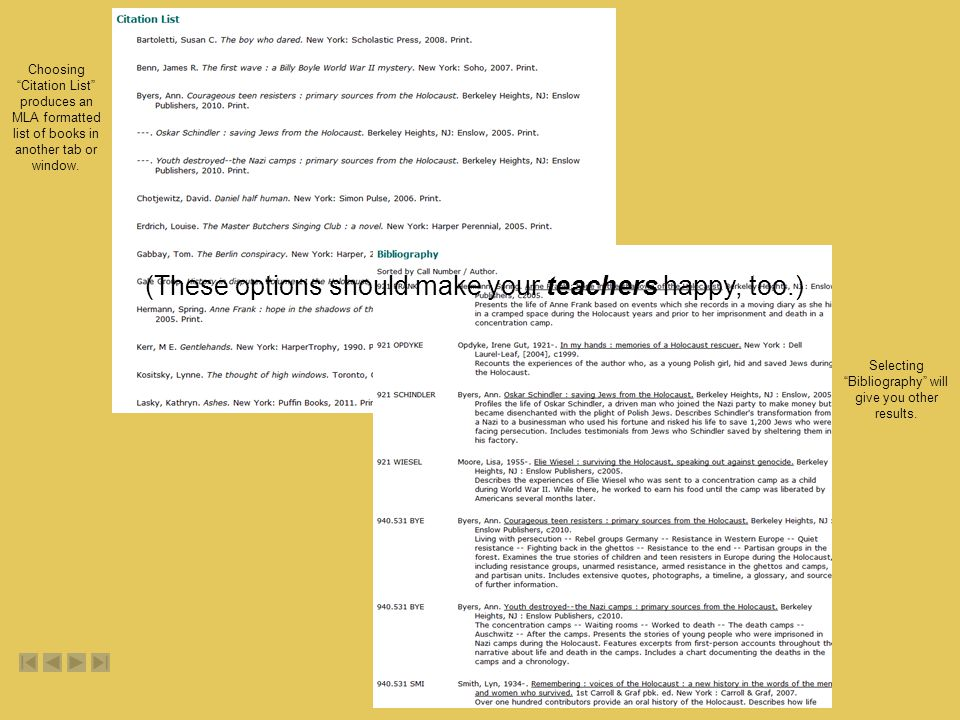 (These options should make your teachers happy, too.)