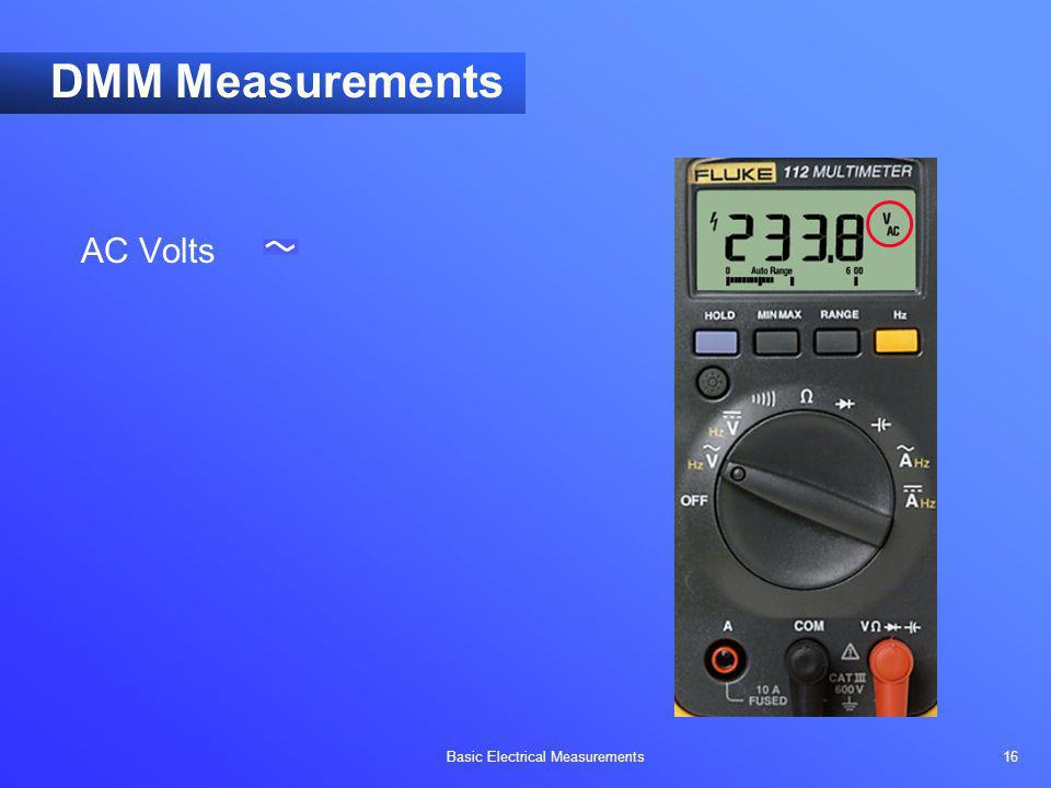 DMM Measurements AC Volts