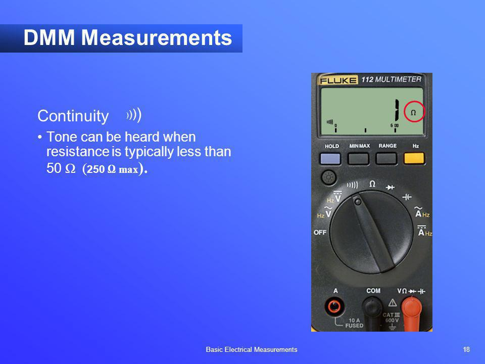 DMM Measurements Continuity