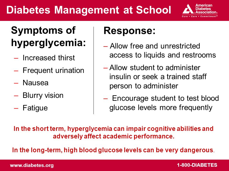 In the long-term, high blood glucose levels can be very dangerous.