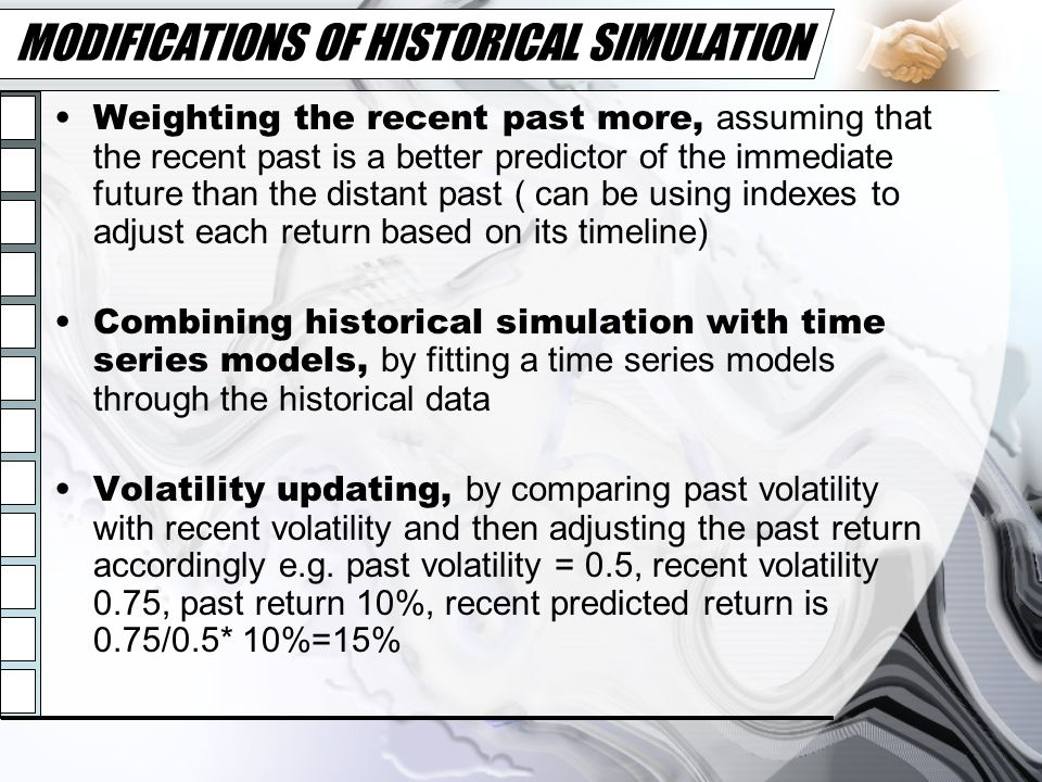 MODIFICATIONS OF HISTORICAL SIMULATION