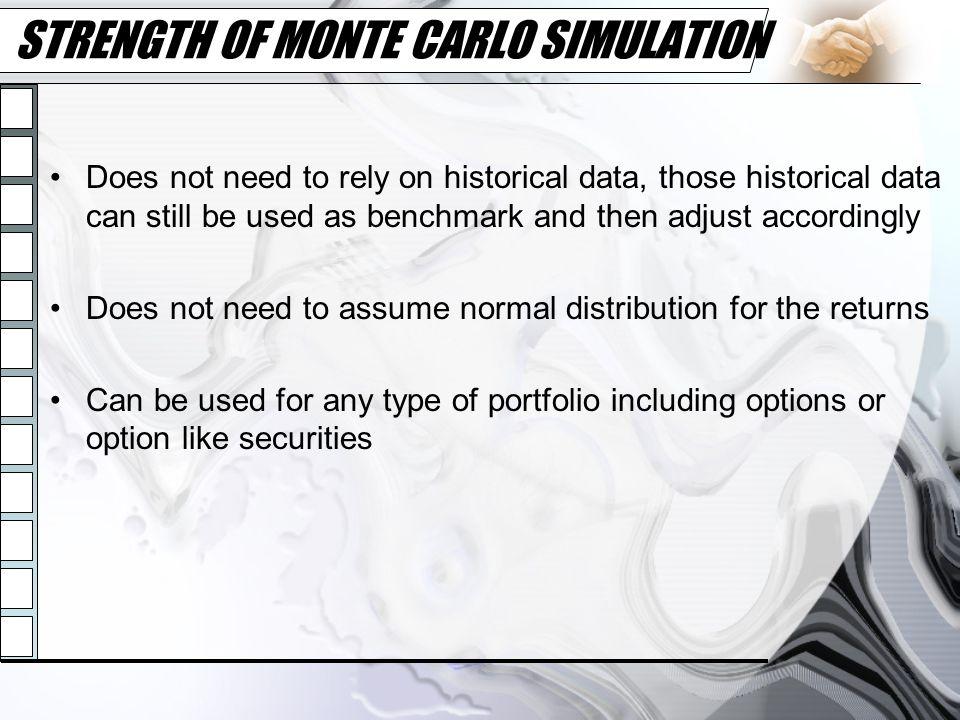 STRENGTH OF MONTE CARLO SIMULATION