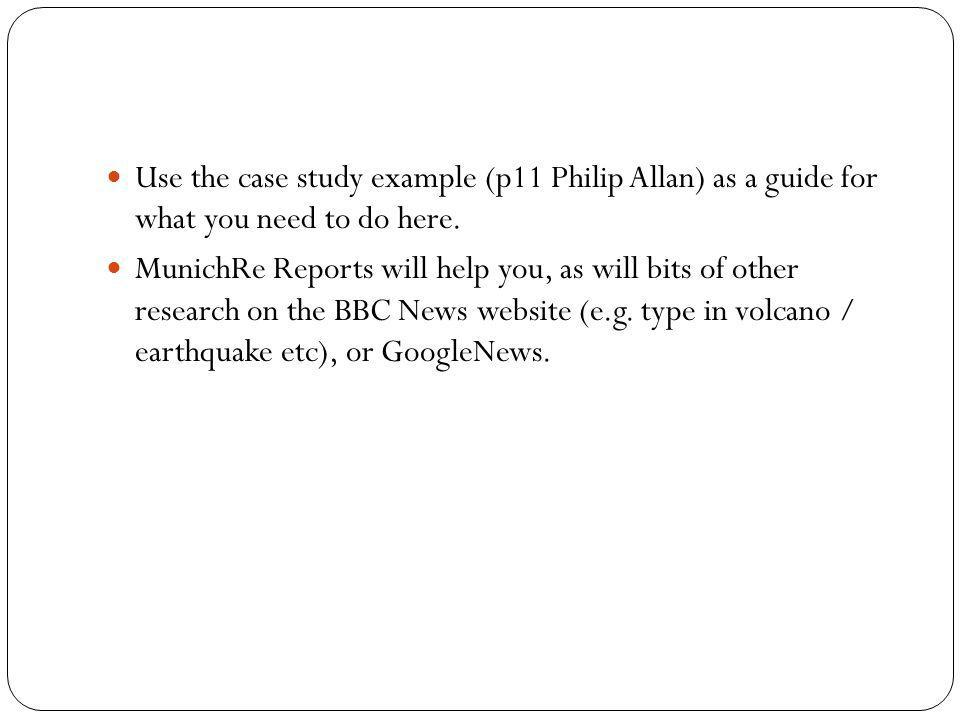 Use the case study example (p11 Philip Allan) as a guide for what you need to do here.