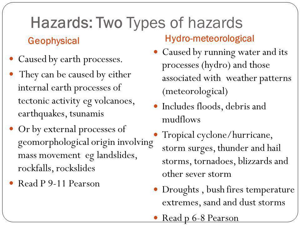 Hazards: Two Types of hazards