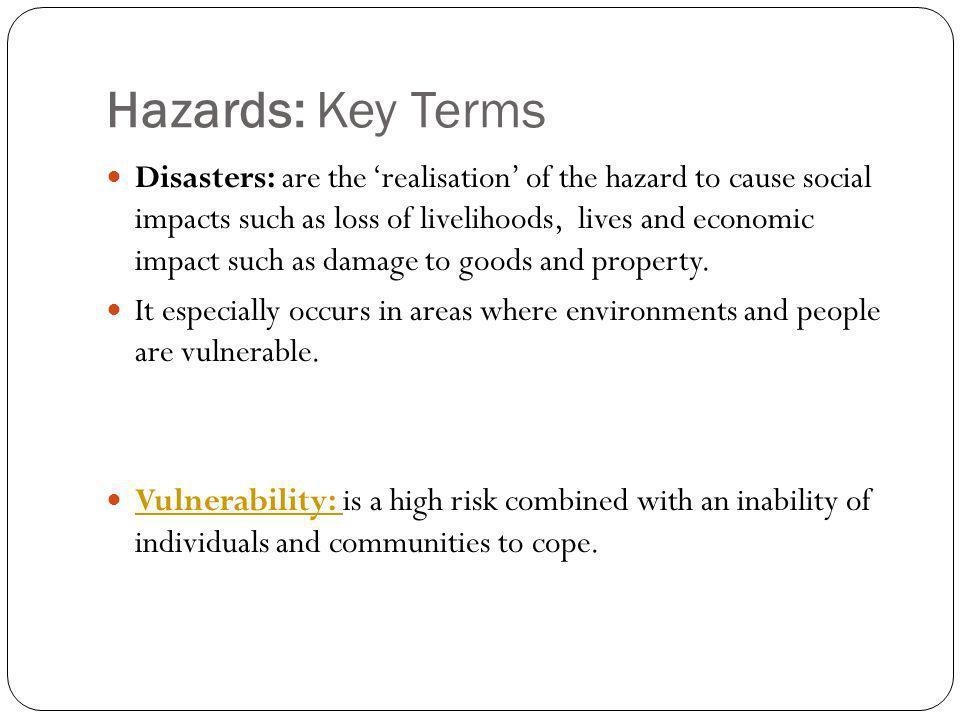 Hazards: Key Terms