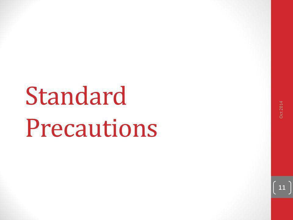 Standard Precautions Oct 2014