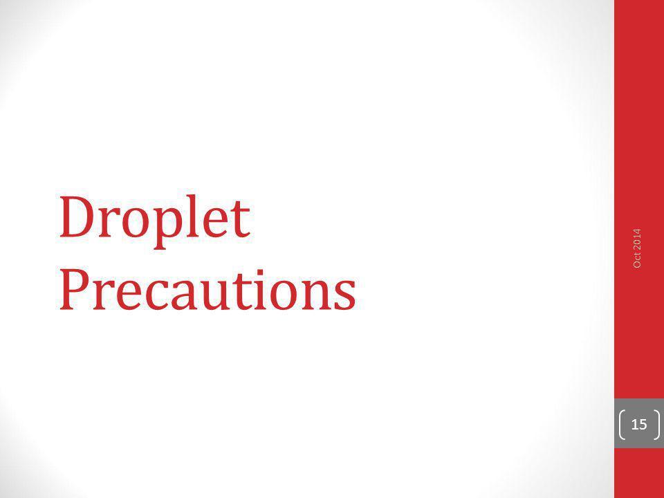 Droplet Precautions Oct 2014