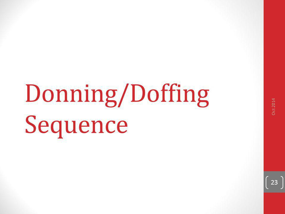 Donning/Doffing Sequence