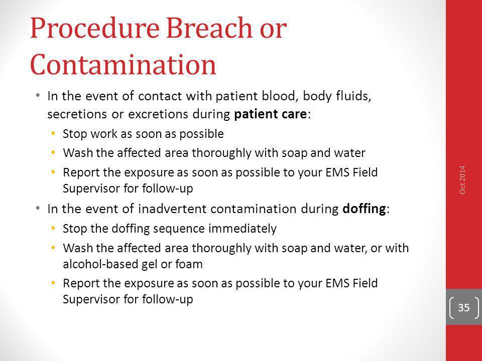 Procedure Breach or Contamination