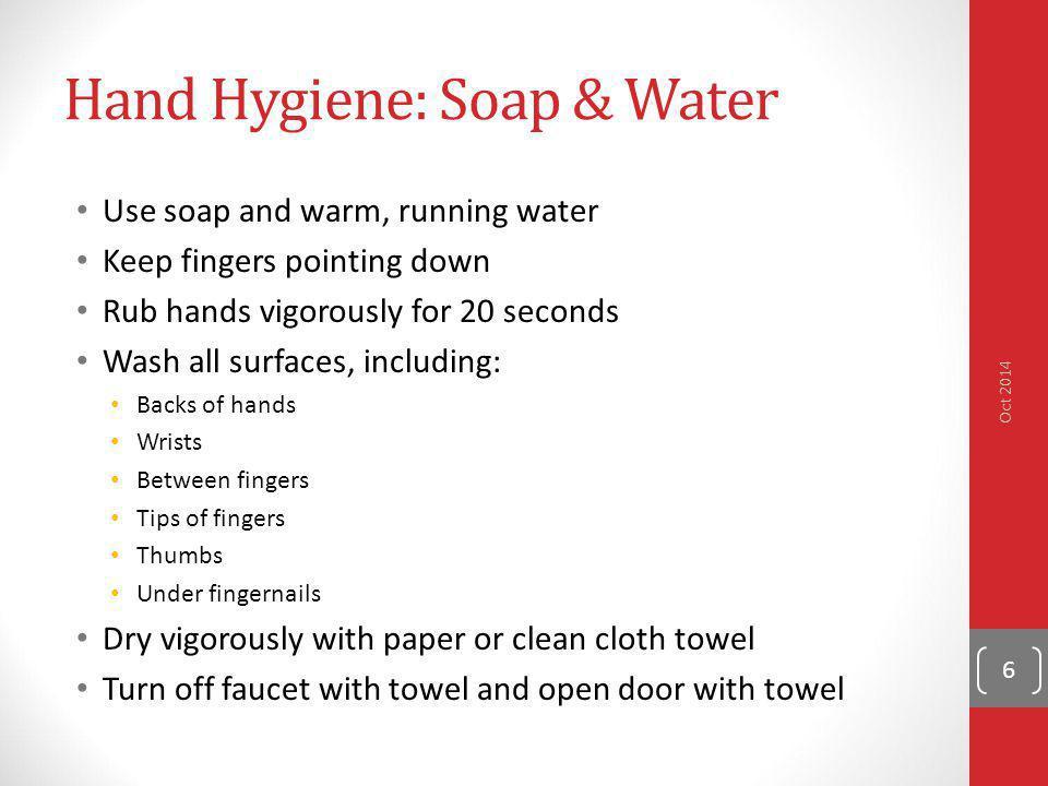 Hand Hygiene: Soap & Water