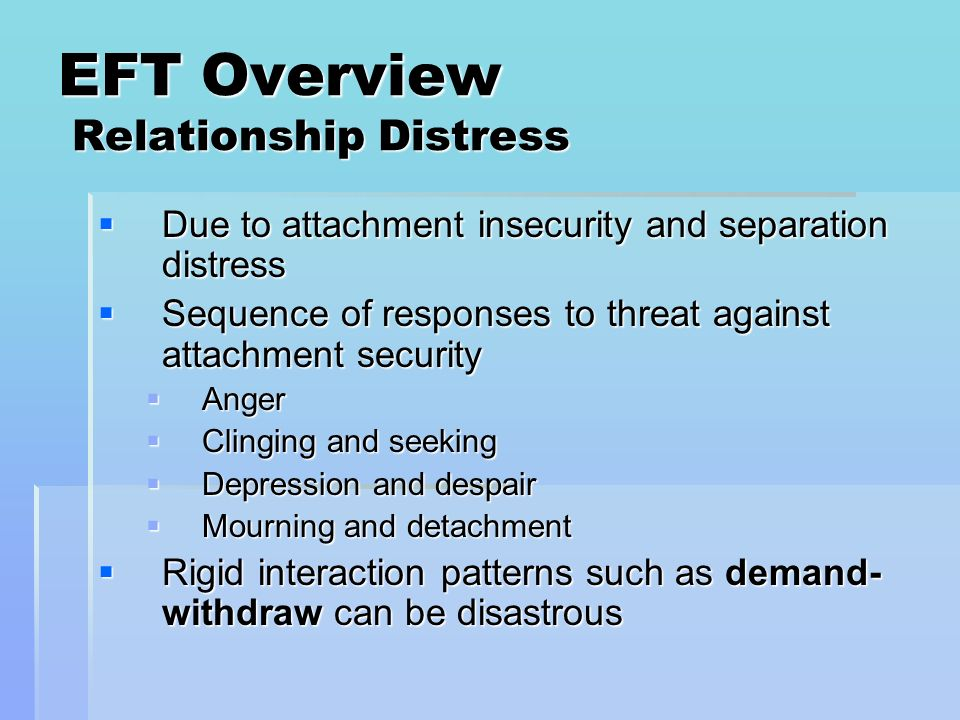 EFT Overview Relationship Distress
