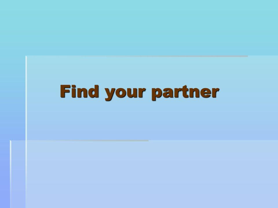 Find your partner