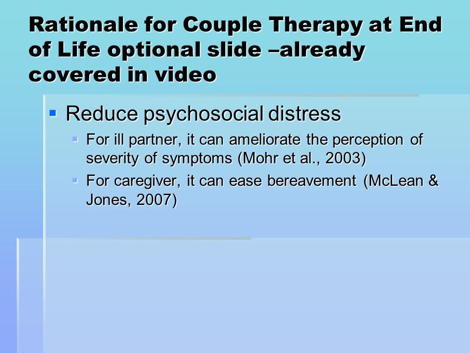 Reduce psychosocial distress