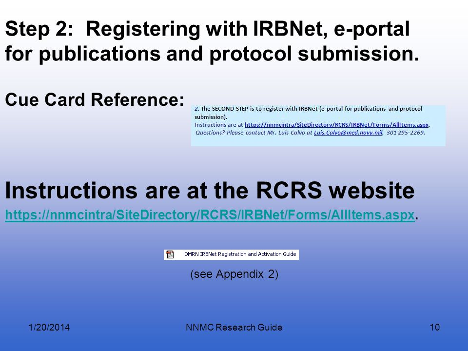 Instructions are at the RCRS website