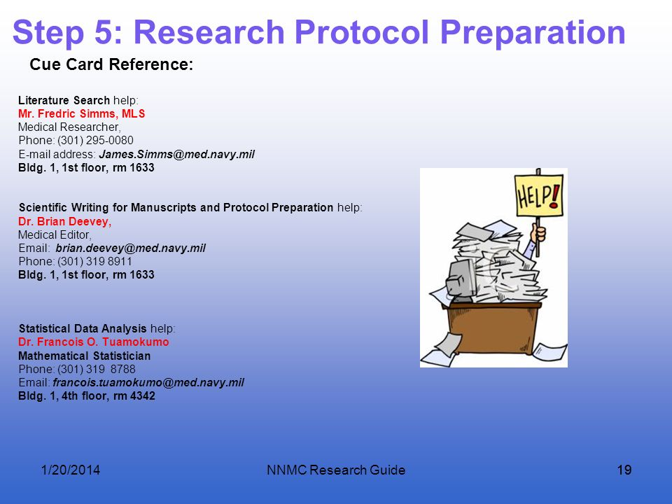 Step 5: Research Protocol Preparation