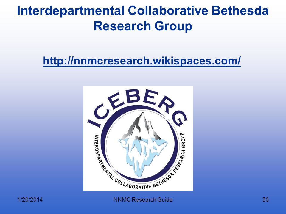 Interdepartmental Collaborative Bethesda Research Group
