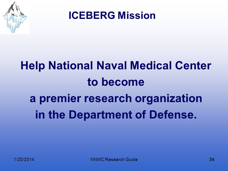 Help National Naval Medical Center a premier research organization