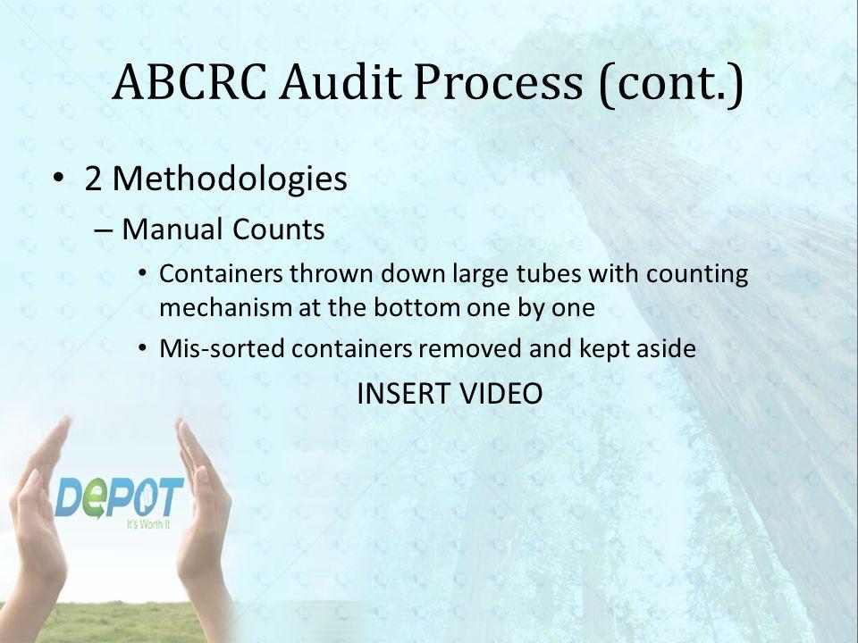 ABCRC Audit Process (cont.)