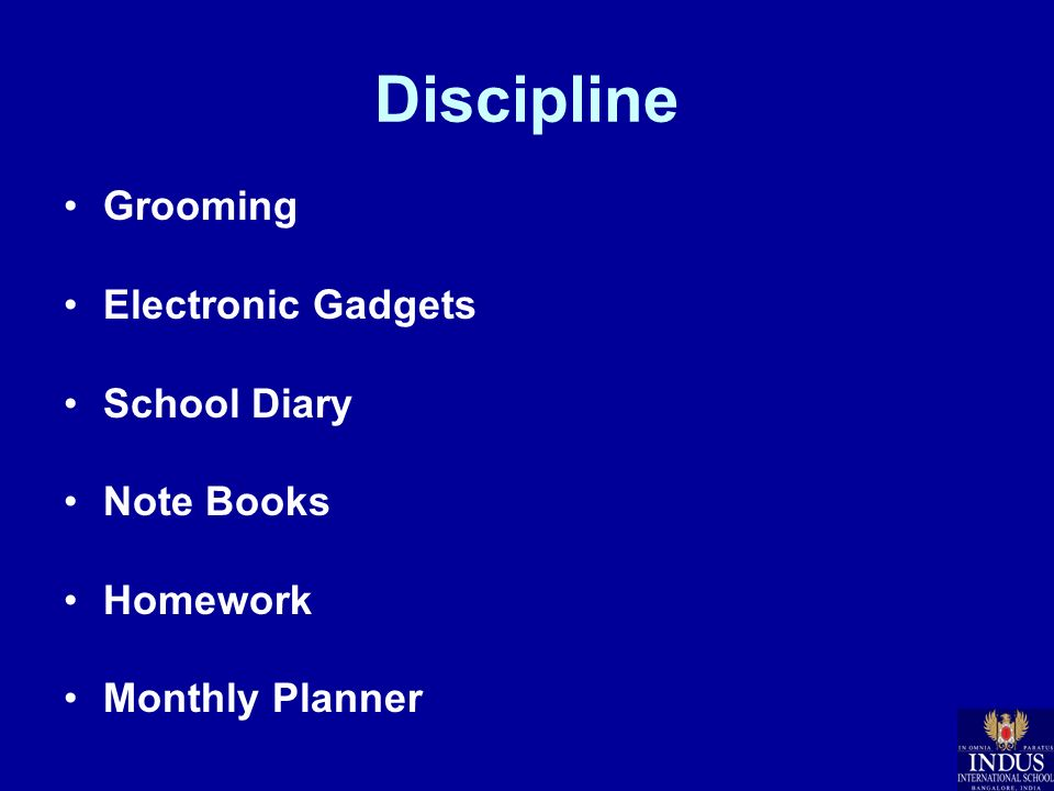 Discipline Grooming Electronic Gadgets School Diary Note Books