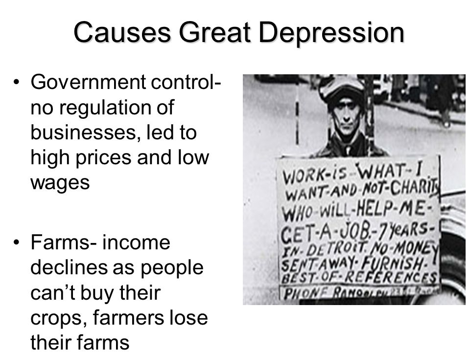 Causes Great Depression