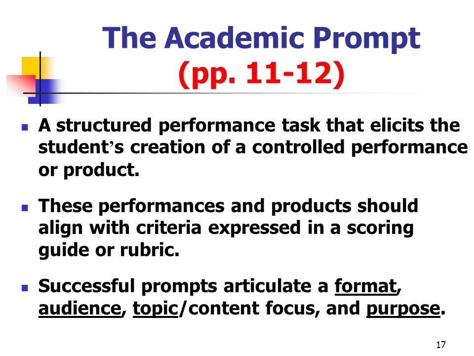 The Academic Prompt (pp. 11-12)