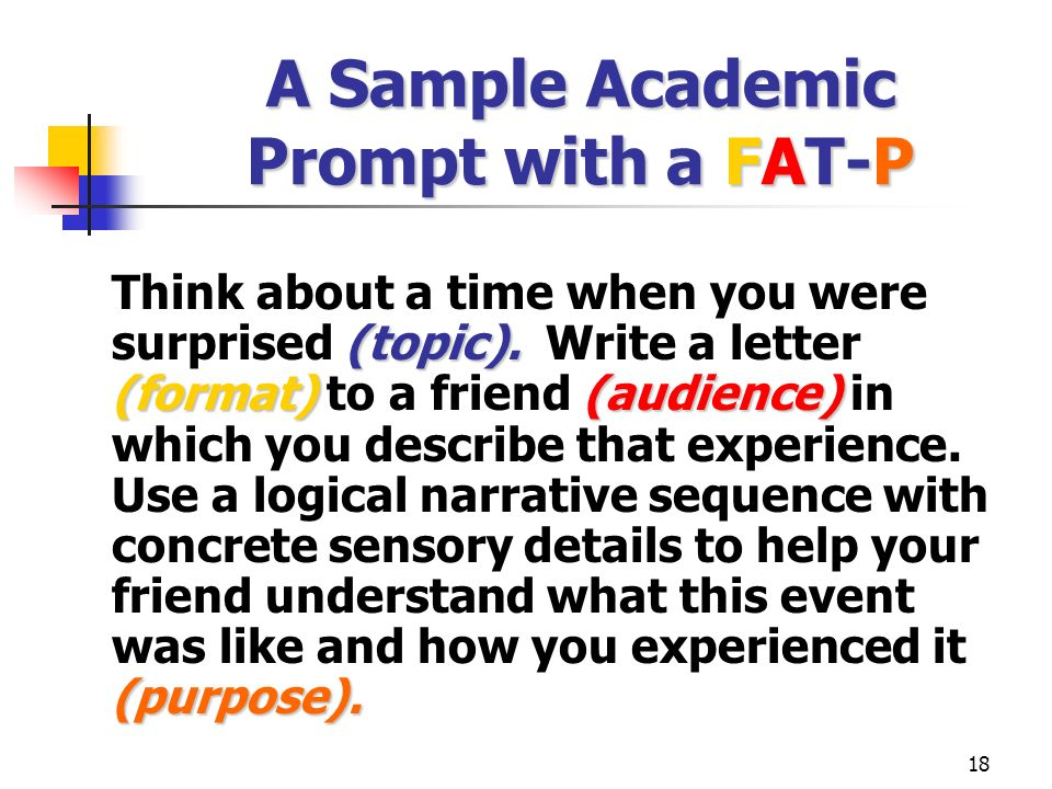 A Sample Academic Prompt with a FAT-P