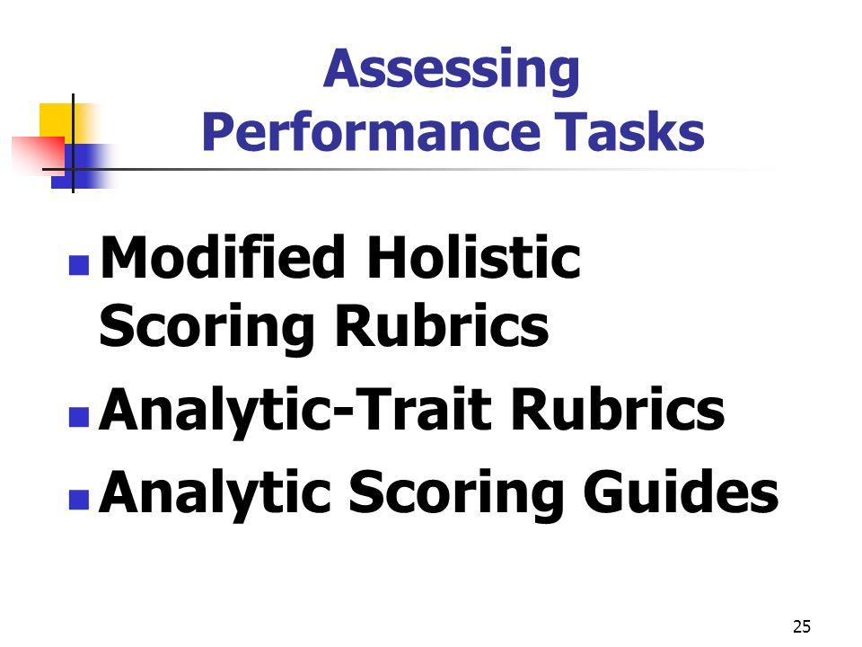 Assessing Performance Tasks