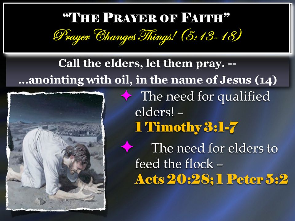 The need for elders to feed the flock – Acts 20:28; 1 Peter 5:2