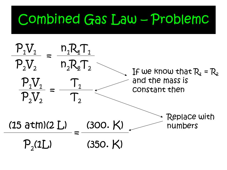 Combined Gas Law – Problemc