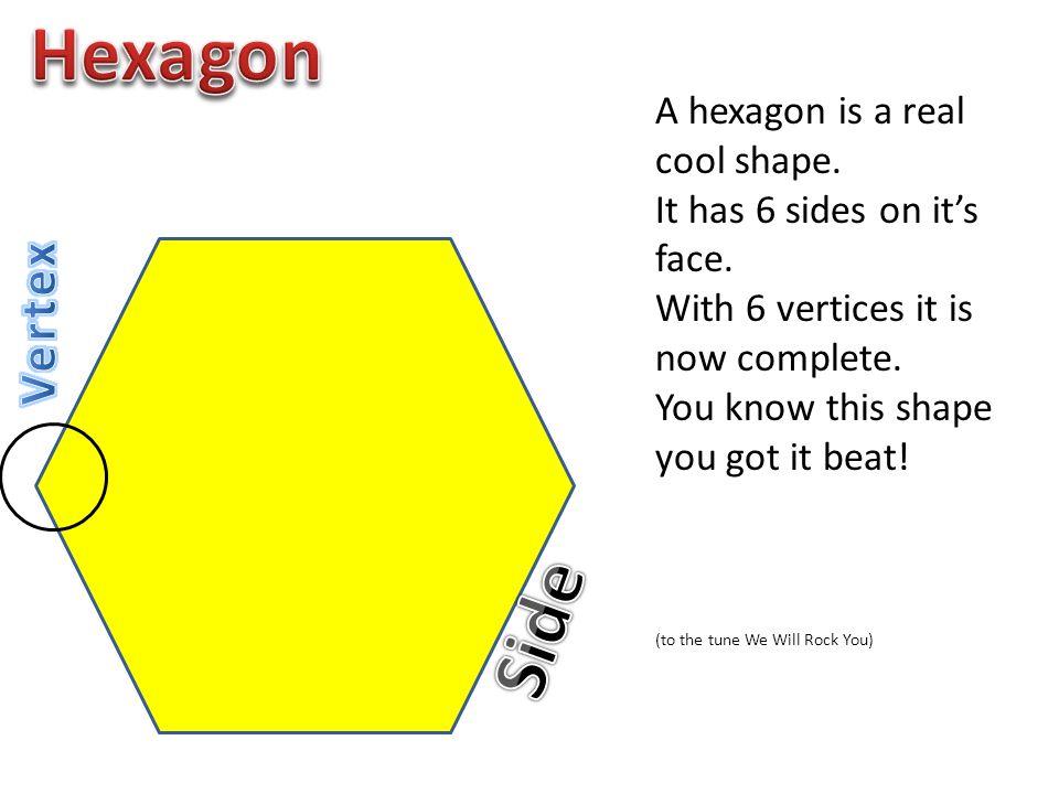 Hexagon Side Vertex A hexagon is a real cool shape.