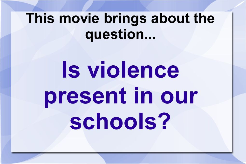 This movie brings about the question...