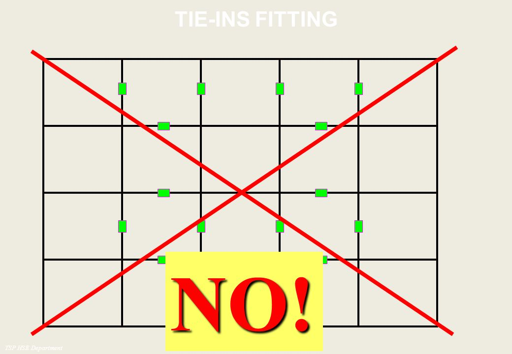 TIE-INS FITTING NO! TSP HSE Department